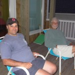 Mike & Papa chillin' on the deck