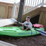Blake in his dad's kayak!