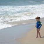 Chloe watching the waves....love this!
